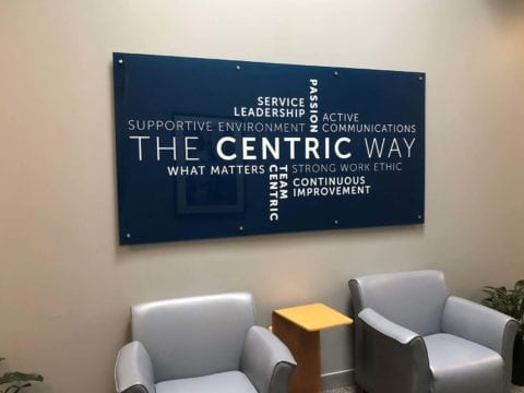 Centric interior sign