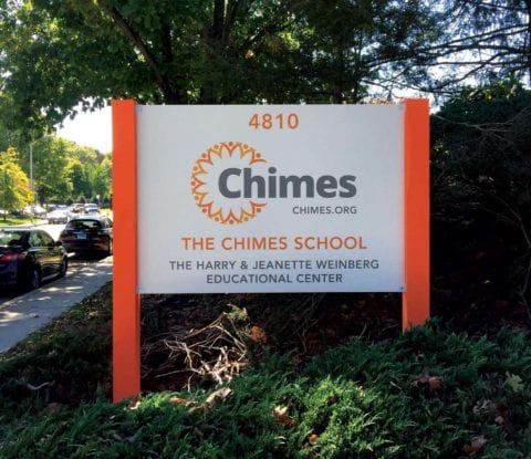 Chimes School sign