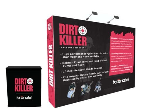 Dirt Killer trade show display