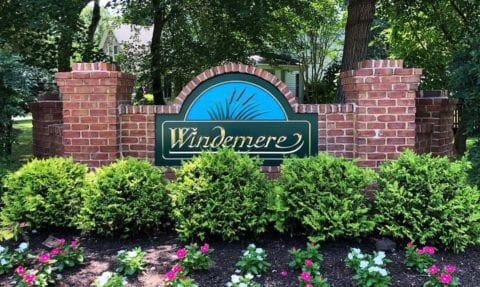 Windmere monument sign