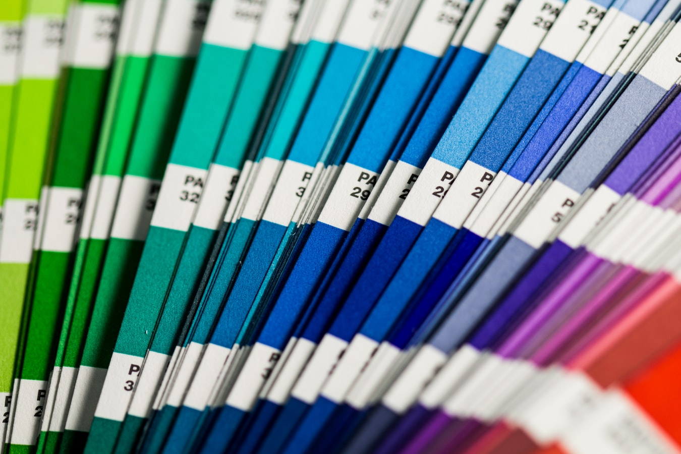 Uncoated Pantone swatches